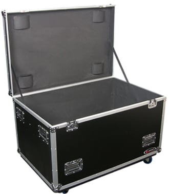 Empty Utility Trunk with Casters