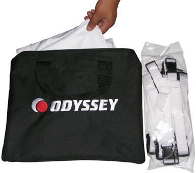 """Odyssey LTMVSS1014L  10'5"""" W x 14' H Projection Screen/Tripod Stand System LTMVSS1014L"""