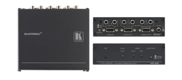 1:2 Computer Graphics Video and Stereo Audio Distribution Amplifier