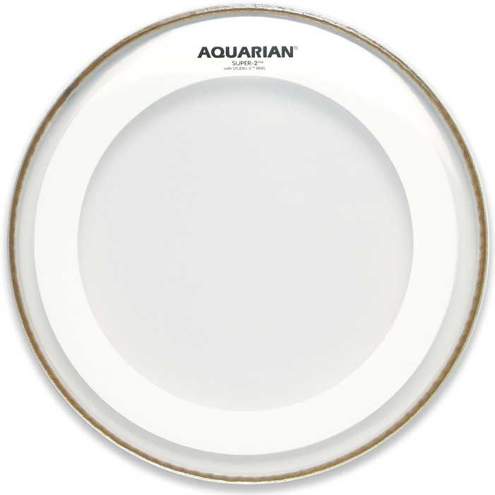 "Aquarian Drumheads MRS2-8 8"" Super-2 Clear Drum Head with Studio-X Ring MRS2-8-AQUARIAN"