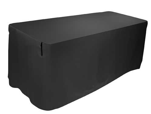 Table Cover, 5 Ft, Black 17415