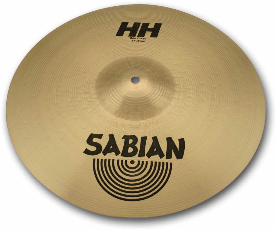 "16"" HH Hand Hammered Thin Crash Cymbal in Natural Finish"