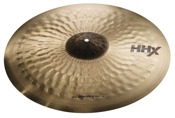 "21"" HHX Raw Bell Dry Ride Cymbal in Natural Finish"