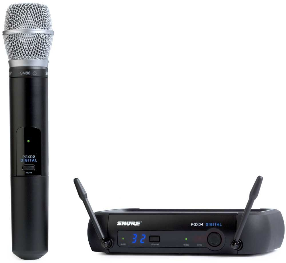 Wireless Digital Microphone System w/SM86 Microphone