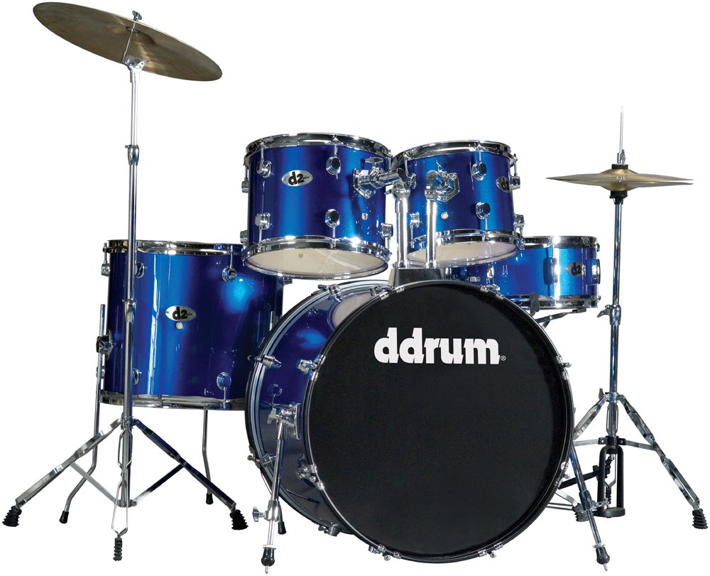 5 Piece Drum Set in Police Blue with Cymbals & Hardware