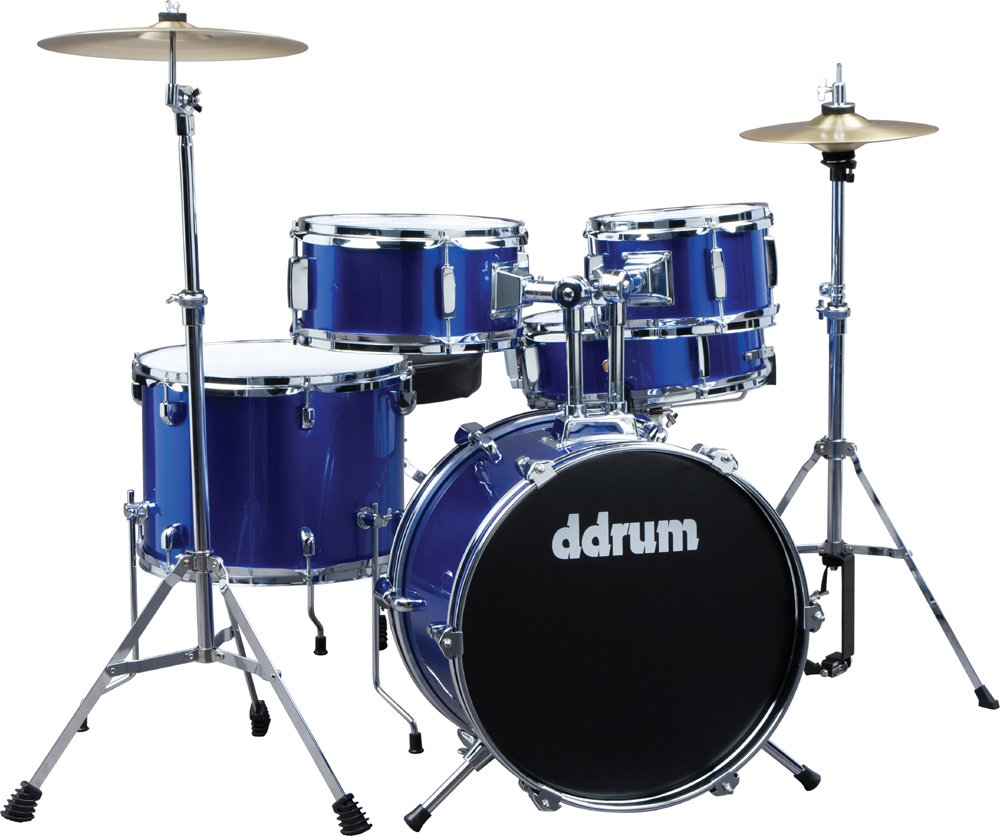 5 Piece Junior Drum Kit with Hardware & Cymbals in Police Blue
