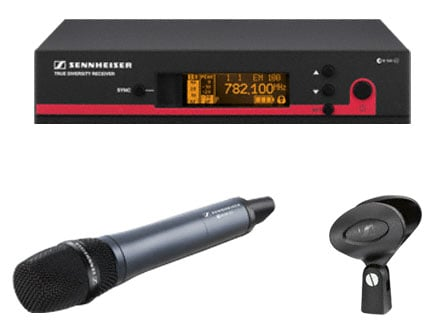 Wireless Handheld Microphone System with e835 and Rackmount Kit
