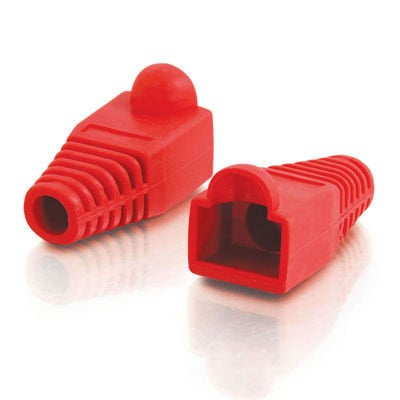 RJ45 Snagless Boot Cover, 6.0mm OD, Red , 50pk