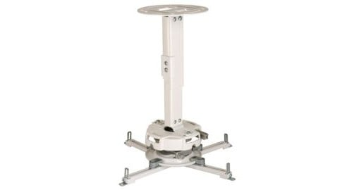 """White Precision Gear 17""""-25"""" Adjustable Projector Ceiling/Wall Mount - 50lbs. Weight Capacity"""