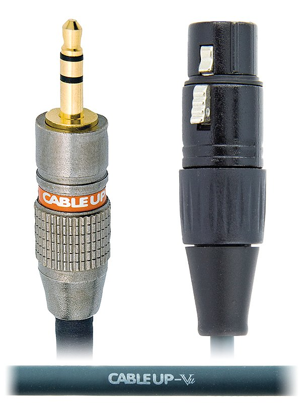 """5 ft 1/8"""" TRS Male to XLR Female Balanced Cable"""