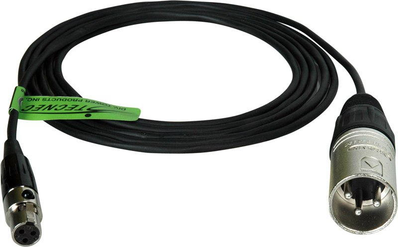 XLR Male to TA3F Cable, 3ft.