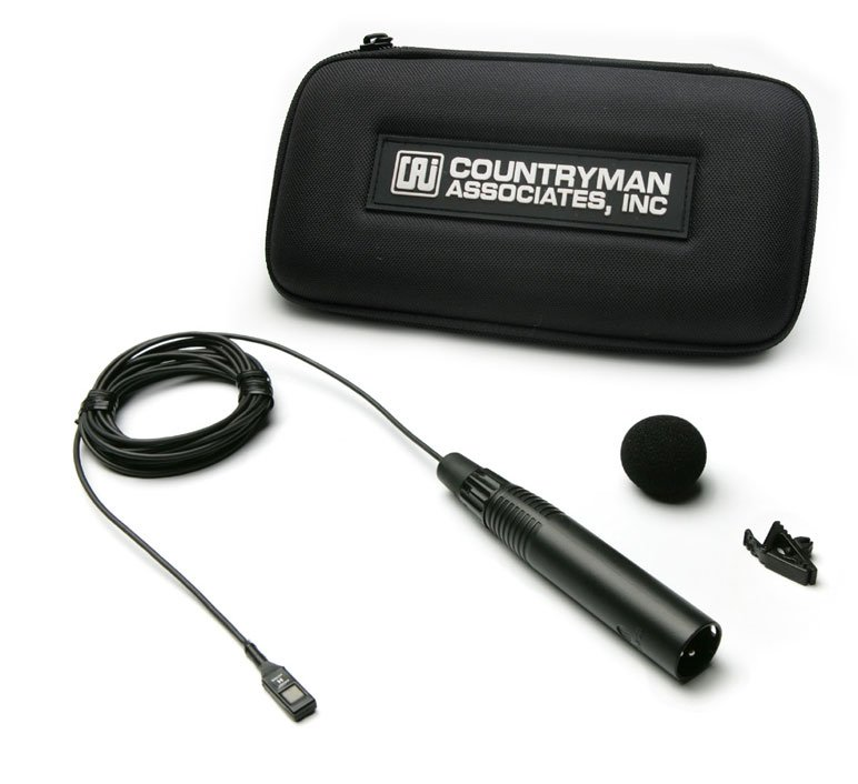 Microphone for Wireless, ISOMAX 2, All-Purpose, Hypercardioid, Black, Pigtail Leads Connector for 3 wire Operation