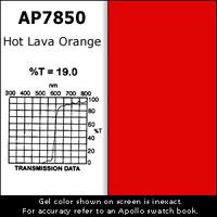 Gel Sheet, 20x24, Hot Lava Orange