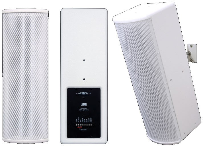 "4 x 4.5""125W Line Array Speakers in White"