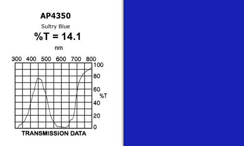 "Apollo Design Technology AP-GEL-4350 ""Sultry Blue"" 20"" x 24"" Gel Sheet AP-GEL-4350"