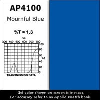 """Gel Sheet, 20""""x24"""", Mournful Blue"""