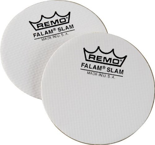 "2-Pack of 4"" Single Kick Falam Slam Bass Drum Head Pads"