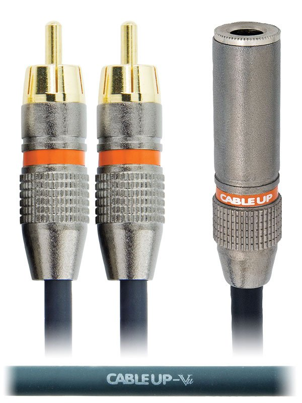 "6"" 1/4"" TS Female to Dual RCA Male Parallel Y-Cable"