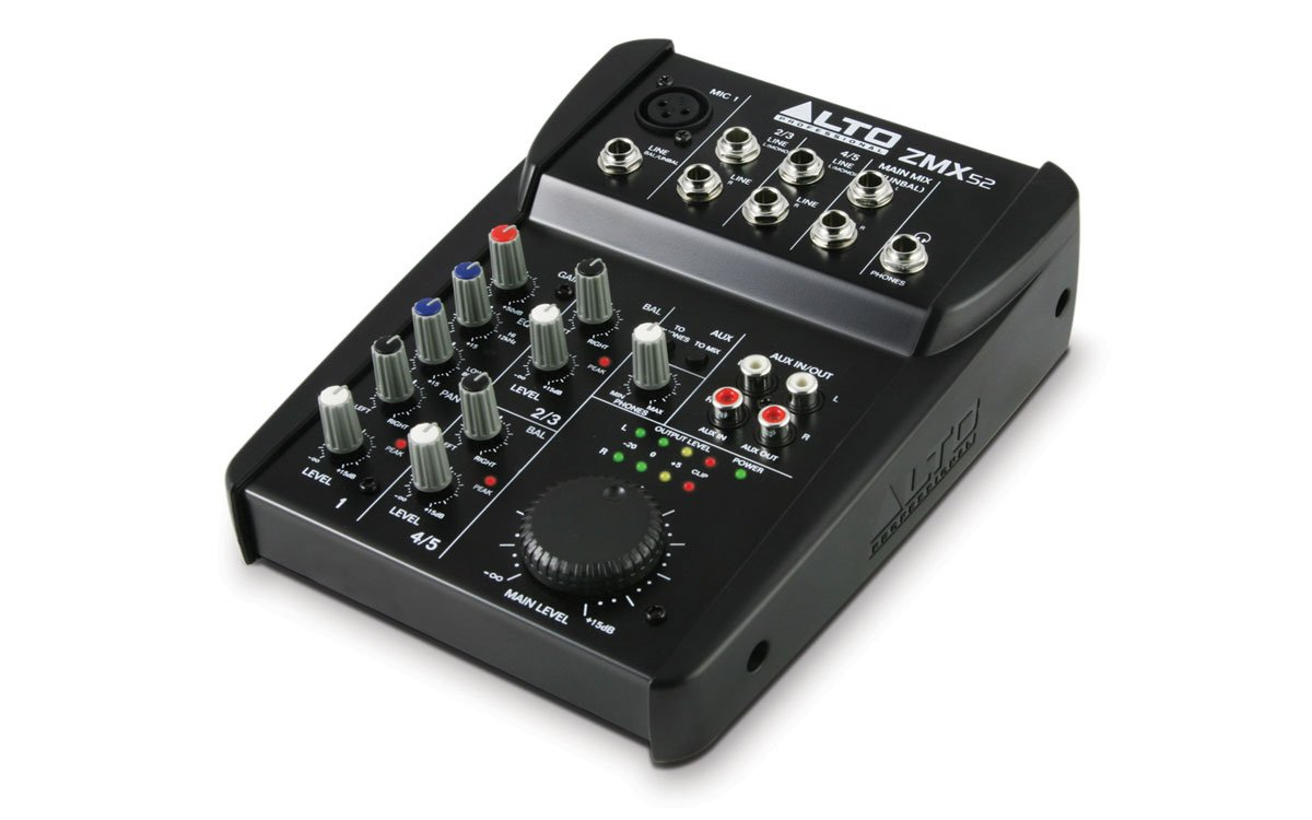 5 Channel Compact Mixer, 2-band EQ, 1 XLR Mic In
