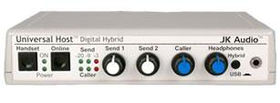 JK Audio Universal Host Desktop Digital Hybrid Telephone Interface UHOST