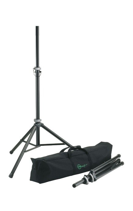 Two K&M Speaker Stands with Bag