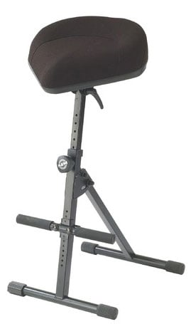 Stool with Bicycle-seat, Black Leather