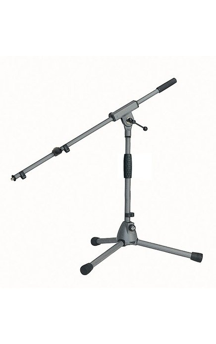Low-Level Microphone Stand with Gray Powder Coat Finish