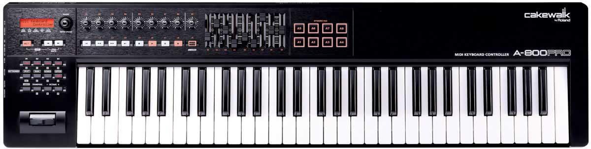 Professional 61-Key USB MIDI Keyboard Controller for Mac or PC