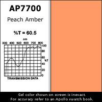 "Gel Sheet, 20""x24"", Peach Amber"
