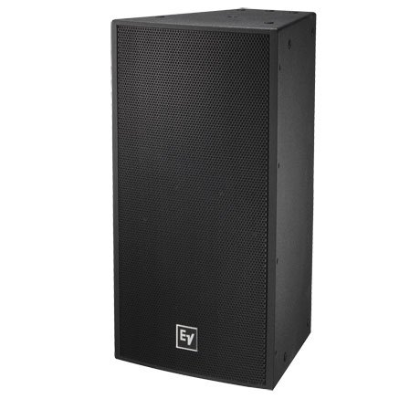 "Single 12"" Two-Way 60° x 40° Full-Range Loudspeaker System, Black"