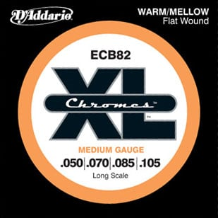 Medium Flatwound Long Scale Electric Bass Strings