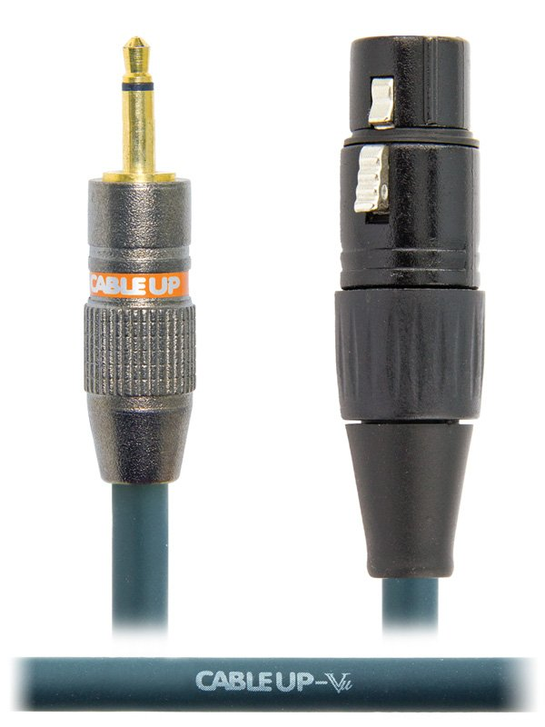 "1 ft XLR Female  to 1/8"" TS Unbalanced Male Cable"