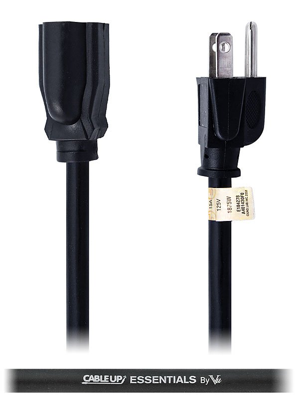 3 ft 14 AWG Power Extension Cable
