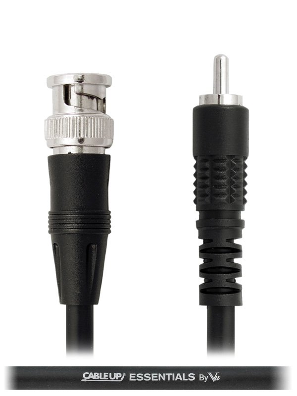 6 ft 75 Ohm RCA Male to BNC Video Cable with Silver Contacts