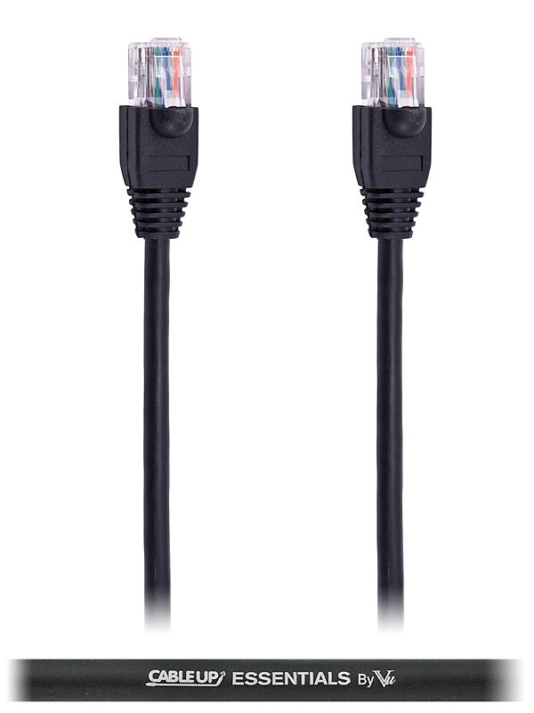 25 ft CAT5E Cable with Black Jacket
