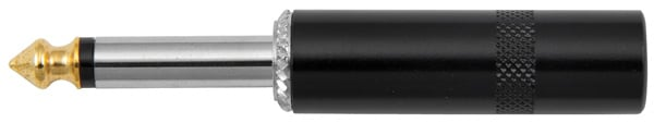"1/4"" Male TS Connector with Gold Tip"