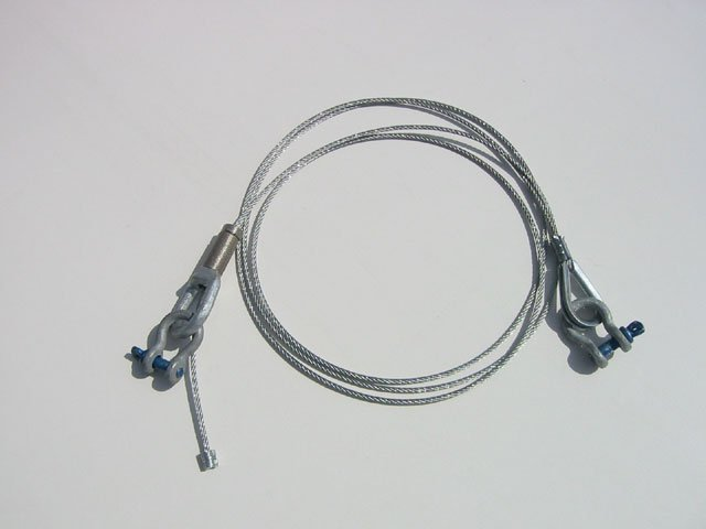Cable Coupler, 8ft adjustable,  Silver