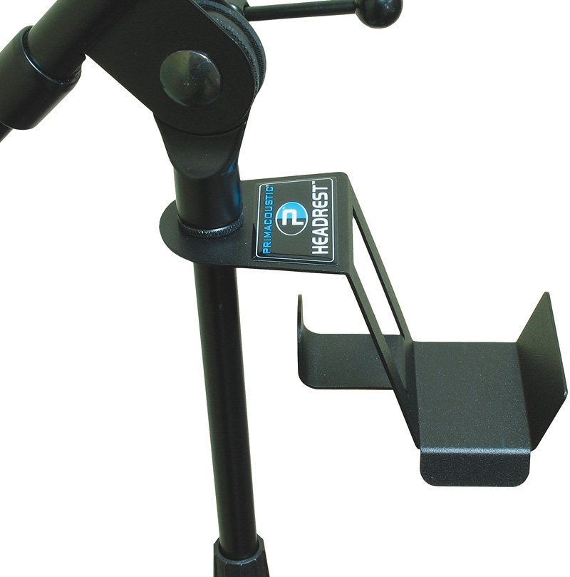 Headphone holder for microphone stand