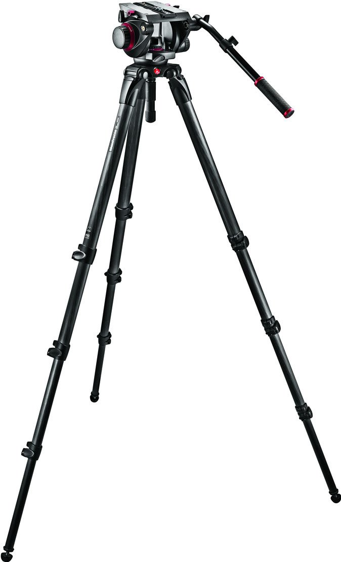 Pro Single CF Kit 100 Tripod with Fluid Head