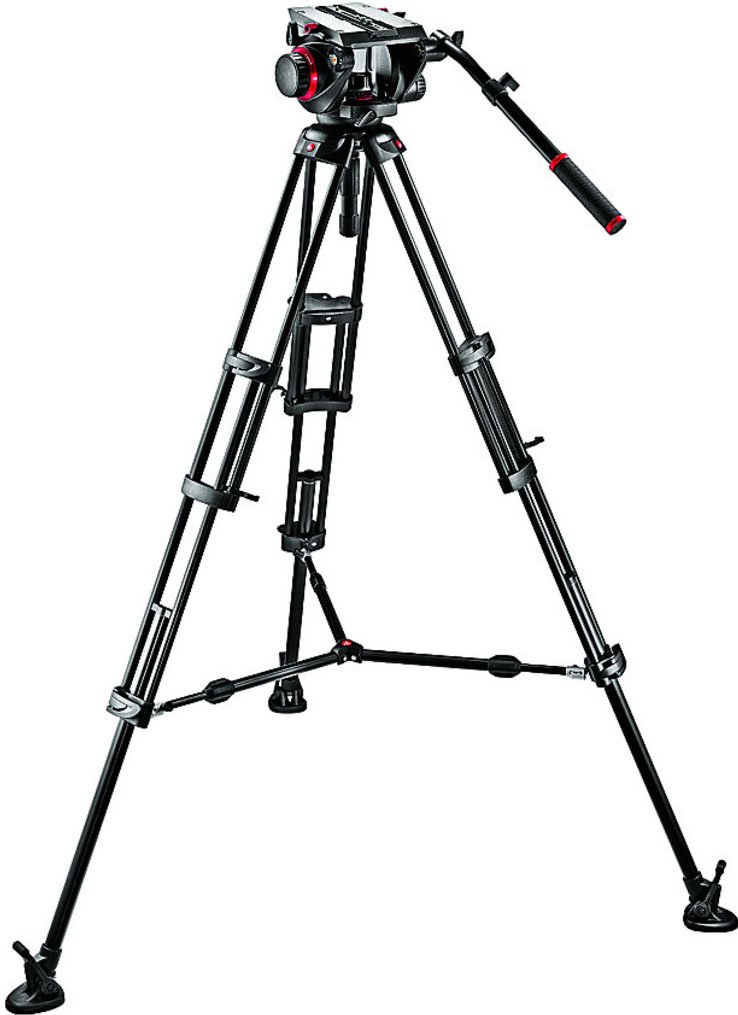 Pro Middle-Twin Kit 100 Tripod with Fluid Head & Middle Spreader