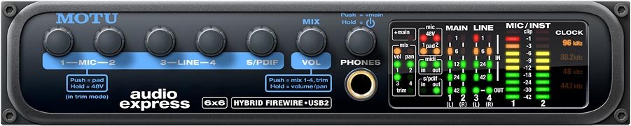 MOTU Audio Express Firewire/USB 2.0 Hybrid Audio Interface AUDIO-EXPRESS
