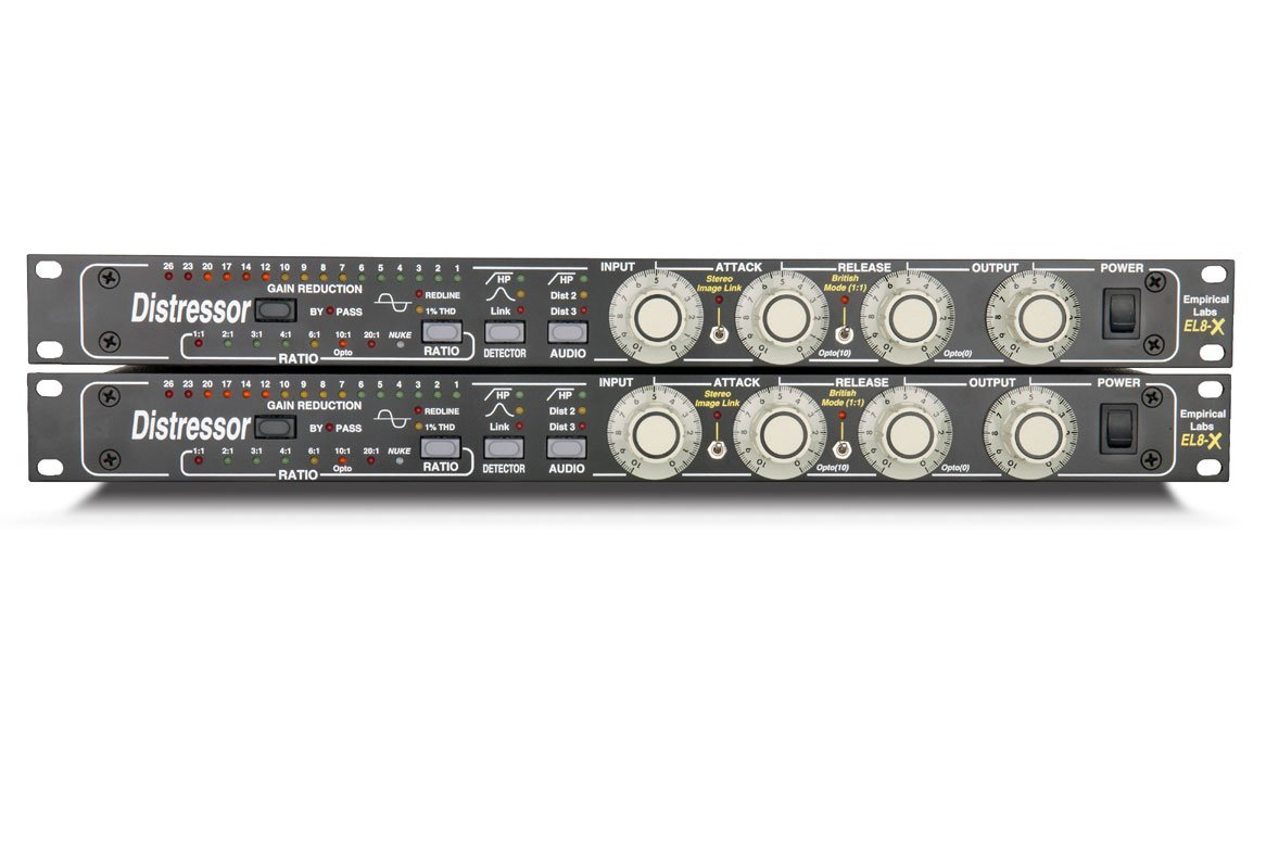 Stereo Pair of EL8X Distressors, Dual Channel, w/British Mod and Image Link Feature