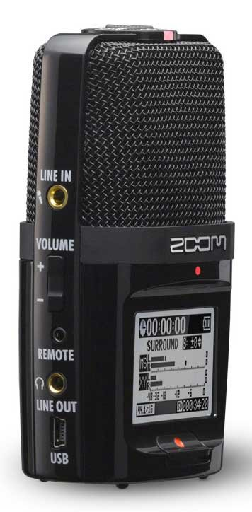 Handheld Recorder with 4-Channel Surround Sound Recording Mode