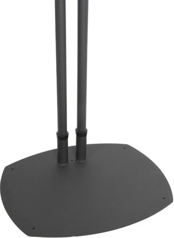 """Black Dual Pole Plasma Screen Floor Stand, with 72"""" Poles"""