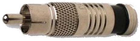 50-Pack of RCA-Type RG6 Nickel Coaxial Compression Connectors