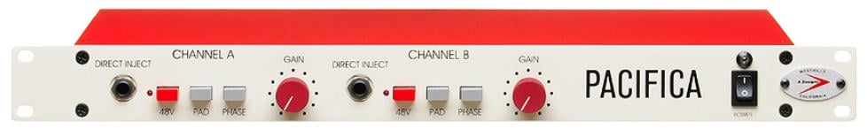 2-Channel Solid-State Stereo Microphone Preamp/DI with Pad