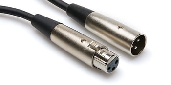 XLR3F to XLR3M Cable, 5ft