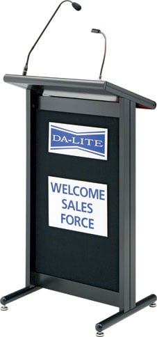 110 Volt Deluxe Euro Style Lectern
