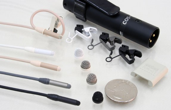 Lavalier Microphone with Connectors for Sennheiser EW Bodypacks