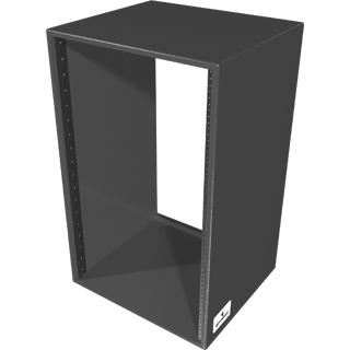 """Grundorf Corp RSB18S-BLACK Rack Shell, 18 space, 15.5"""" deep RSB18S-BLACK"""